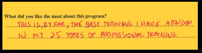 Training Blurb