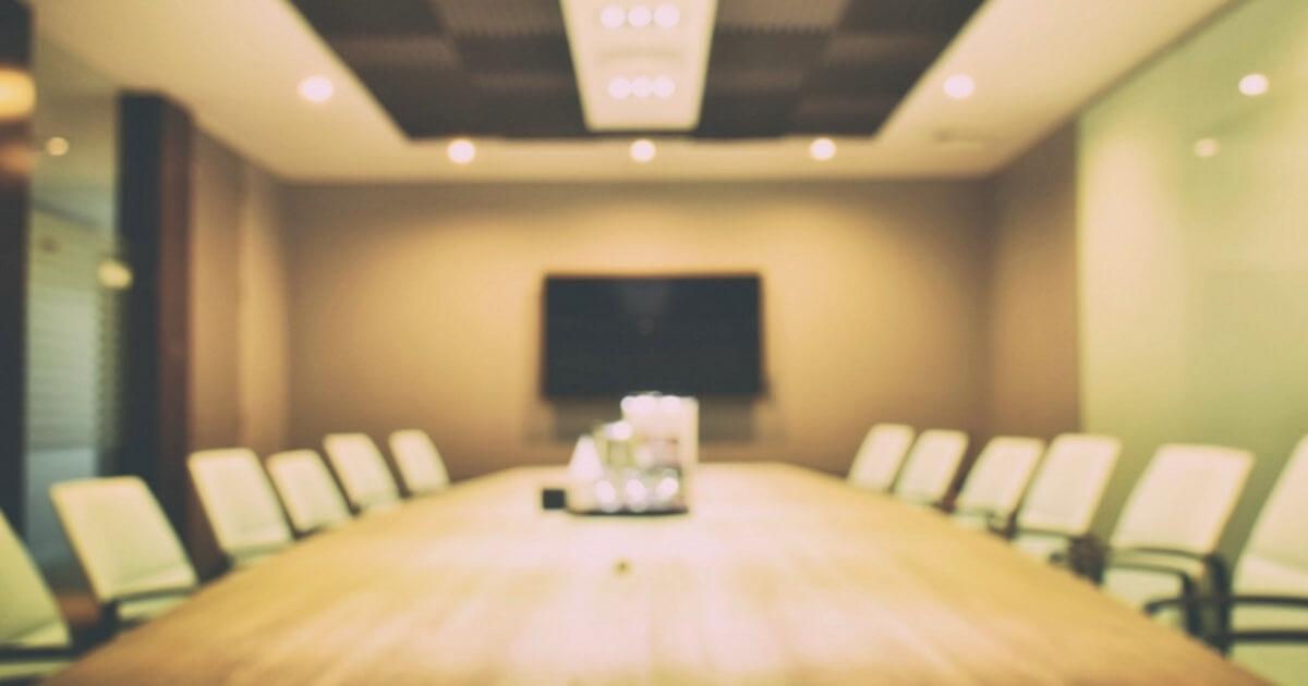 Inside a boardroom