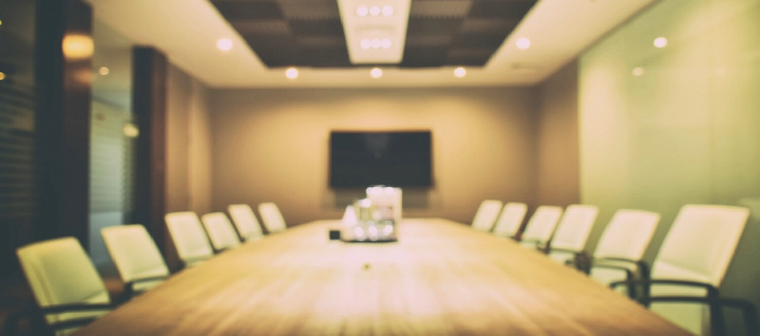 The view inside a boardroom